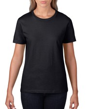 Buy Gildan Ladies Premium Crew Neck Fitted T-Shirt with Printed Logo