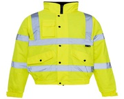 Buy Hi-Vis Fleece Collared Bomber Jacket