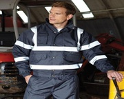 Buy High Vis Fleece Collar Bomber Jacket (Navy Or Black)
